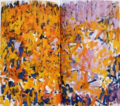 JOAN MITCHELL, 'Two Pianos', 1980, oil on canvas, diptych, 110 x 142 in, estate of Joan Mitchell