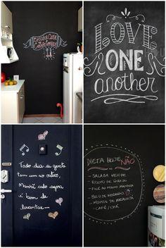 Ideias bem lindas para fazer na sua parede lousa - 06