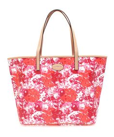 Another great find on #zulily! Pink Metro Floral Leather Tote #zulilyfinds