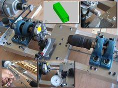 DIY homemade mini metal cutting woodworking lathe 自製車床