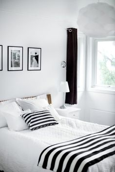 137 Best Black & White Bedrooms images | Black white ...