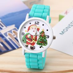Children's New Chrismates Fashion Watch Quartz Watch Santa Slaus Pattern Watch Children's Watches, Fashion Watches, Quartz Watch, Bracelet Watch, Santa, Pattern, Leather, Accessories, Wristwatches