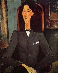 Portrait of Jean Cocteau, 1917  Amedeo Modigliani http://www.wikipaintings.org/en/amedeo-modigliani/portrait-of-jean-cocteau-1917