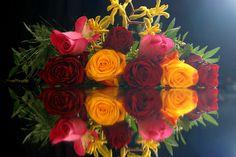 Blumenstrauß gespiegelt....
