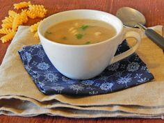 Mushroom, Rosemary and Fusilli Soup