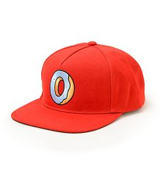 2a7b4707e22 Instantly brighten your outfits with a vibrant red colorway that showcases  a single donut Odd Future