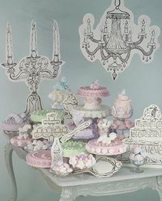 Temática Marie Antoinette para fiesta.