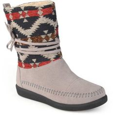 Brinley Co. Womens Multi Fabric Fashion Boots, Women's, Size: 6, Gray