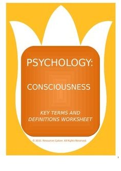 This is an excellent resource to reiterate and revise the concepts related to Consciousness Psychology. This can be used as a class exercise or as a homework activity. This can also be used as a revision activity just before the exam. This product includes the answer key as well.