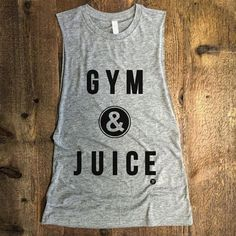 GYM & JUICE Funny Muscle Gym Tank Drop Armhole Boxing by everfitte