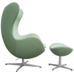 "Arne Jacobsen ""Egg"" Chair with Ottoman 