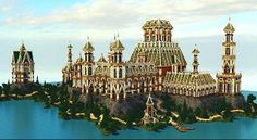 The Palace of Daibahr bouiyait minecraft building ideas tower 2 Minecraft Creations, Minecraft Designs, Minecraft Memes, Minecraft Stuff, Minecraft Structures, Minecraft Buildings, Tower Building, Building Ideas, Building Designs