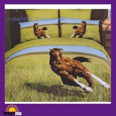 Horse Bedding for Teens | Wholesale - Cool top quality Horse bedding sets Animal duvet cover ...