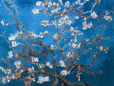 Branch of an Almond Tree in Blossom, (1890) by Vincent Van Gogh http://estherandlester.com/?p=6803