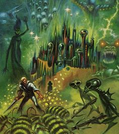 Evil Wizard, Pure Strain Human with rifle, Mutants with crossbows, Monsters - this is a whole adventure in one pic.