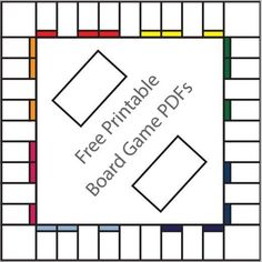 Make your own board games with free printable templates! #Games #LibrarySparks #Nov2015