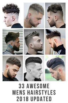 33 Awesome Mens Haircuts 2018 Updated + Clipper Designs + French Crop + Side Part + Faux Hawk. Designed by the Worlds Best barbers.