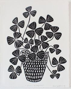 Young Schmidt Prints are flora-inspired lino prints, handmade by Bailey Schmidt in the U. Plant Illustration, Graphic Illustration, Oxalis Triangularis, Lino Art, Linocut Prints, Art Plastique, Fine Art Paper, Art Paintings, Wall Art Prints