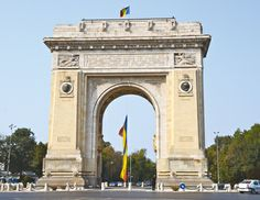 The Triumphant Arch, Bucharest, Romania | The Triumphant Arch of Bucharest commemorates the Romanian participation at the Great War at the end of which the whole Romanian territories unified into one country.