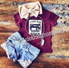 Heather wine color, scoop neck girl's tee. Sewn on cotton patch. Source by Clothing girl Western Baby Girls, Western Baby Clothes, Cowboy Baby, Baby Kids Clothes, Country Baby Clothes, Camo Baby, Baby Boys, Carters Baby, Toddler Girls
