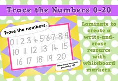 Trace the Numbers - 20