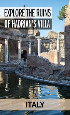 Heading to Tivoli is one of the best day trips from Rome. There are lots of things to see in Tivoli but one of the best is Hadrian's Villa. These ancient Roman ruins are a huge and incredible site of a luxurious pleasure palace.