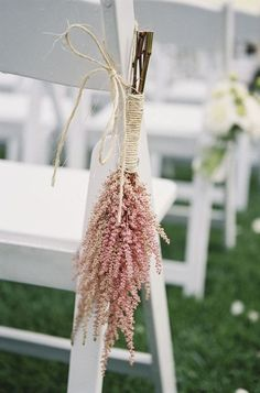 Pink Astilbe Wedding Aisle Decor / http://www.himisspuff.com/astilbes-wedding-ideas/8/