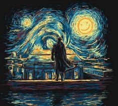 Starry Night Fall - Sherlock meets Van Gogh