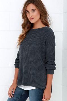 BB Dakota Giselle Dark Grey Sweater   Lulus