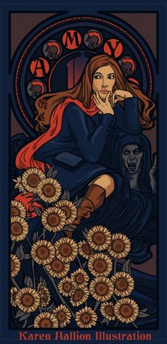 Amy Pond, as Alphonse Mucha would have painted her. www.facebook.com/...  http://www.titanwebsolutions.co.uk