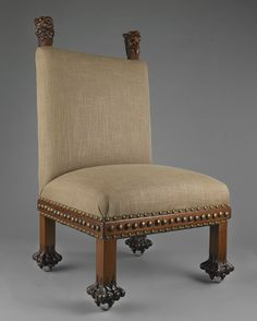 Louis Comfort Tiffany (American, 1848-1933), attributed. Side chair, ca. 1881-83. Photo by John Faier, © The Richard H. Driehaus Museum.