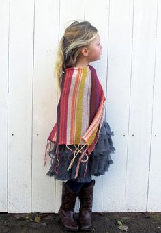 Kids Knit Poncho, shop now at Goddisknits.com