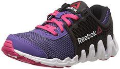 Reebok Zigtech Big N Fast EX Running Shoe Little KidBig Kid Sport  VioletBlackWhiteBlazing Pink 45 M 4e46ee769