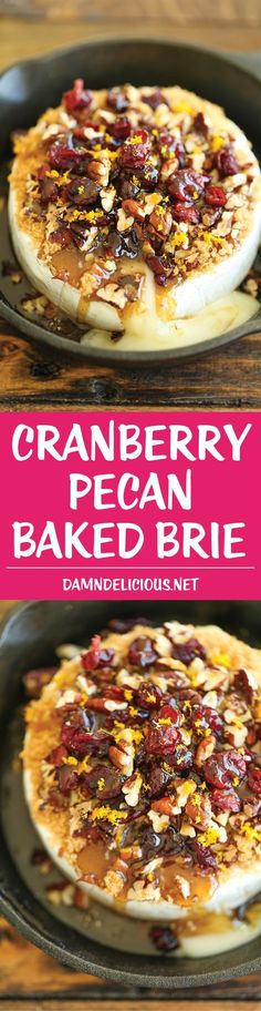Cranberry Pecan Baked Brie - Simple, elegant and an absolute crowd-pleaser! Best of all, this is one of the easiest appetizers EVER with only 5-10 min prep! #Appetizers #CleanEating Sherman Financial Group