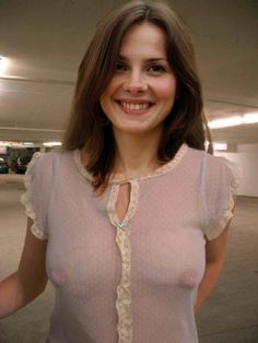 Women with big tits no bra in skimpy blouses