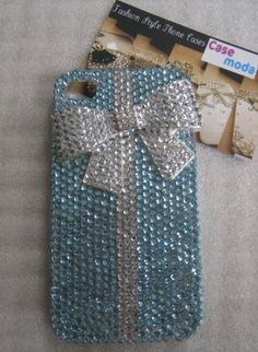New Bling Crystal White Tiffany Style Bow Blue iPhone 4/4S C,  Accessory, bling  crystal  rhinestones  iphone 4/4s case, Chic