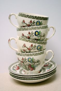 Indian Tree 'Johnson Bros' Cups and Saucers by RetrovertVintage, £20.00
