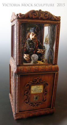 Fantasy Figure OOAK Sculptures and Art Dolls by VictoriaMock Dracula, Big And Beautiful, Beautiful Dolls, Fantasy Figures, Trunk Or Treat, Fortune Telling, Crystal Ball, Art Dolls, Paper Art