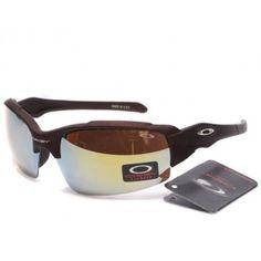 Fake Oakley Split Jacket Sunglasses matte deep brown frames blue-purple Iridium | See more about oakley sunglasses, oakley and sunglasses.