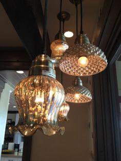 Beautiful mercury glass lights