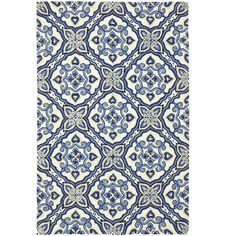 Mediterranean Tile Rug - 5x8.  On sale at Pier One.  Too busy @dvgrauman for the dining room?