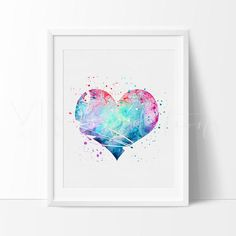 Heart Love Nursery Art Print Wall Decor. Our designs make an attractive, modern contemporary wall piece for your baby nursery, home, office or even as a gift.