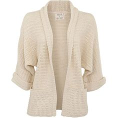 Cream Kimono Sleeve Cardigan (£15) ❤ liked on Polyvore featuring tops, cardigans, jackets, outerwear, sweaters, cardigan kimono, pink cardigan, pink kimono cardigan, wrap cardigan and pink kimono top