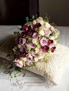 Bridal Bouquet • roses, spray roses, orchids, astrantia, jasmine, eucalyptus, ivy • Joanna Marriott