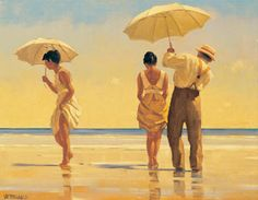Jack Vettriano. Mad Dogs. (A Noel Coward song; Mad dogs and English men go out in the midday sun)