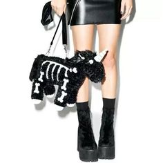 Unicorn Skeleton Purse. This precious little unicorn is just dyin' to be yer friend Grab yours…""