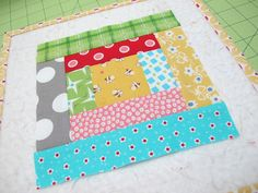 Bee In My Bonnet: The Quilty Barn Along...Barn Number 11 and my Bitty Scrap Around Block Tutorial!!!...