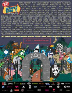 2015 Vans Warped Tour Line-Up | My body is so ready for this.