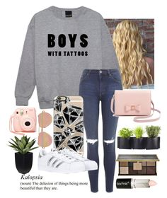 """yup..."" by queen-hstyles ❤ liked on Polyvore featuring Topshop, Casetify, adidas, Nasty Gal, Ted Baker, Linda Farrow, Ciaté, Boohoo and Authentics"