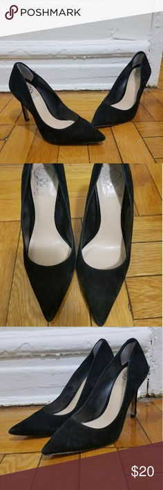 black suede pumps cute and simple black suede pumps are a staple in ones closet! Vince Camuto Shoes Heels